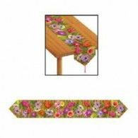 Printed Luau Table Runner Description: They'll be running to your luau! Printed Luau Table Runner has colorful Hawaiian flowers streaming across. Runner is Hawaiian Party Supplies, Hawaiian Luau Party, Luau Party Decorations, Table Decorations, Decoration Party, Prom Themes, Luau Theme, Fruit Art, Dining Table In Kitchen
