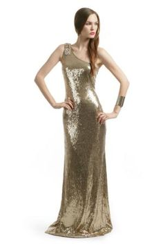 Gold Glam Sequin Gown | Rent The Runway