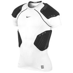 Nike Pro Combat Hyperstrong 4-Pad Top - Men's - Football - Clothing - White/Black/Cool Grey
