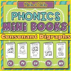 FREE Make & Take Phonics Mini Books: Consonant Digraphs from TheSpeechstress on TeachersNotebook.com -  (10 pages)  - Consonant digraph (phonics) coloring booklets