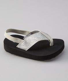 Love this Silver Sparkle Ankle-Strap Sandal by Doodlebugs Boutique on #zulily! #zulilyfinds  afterthought on these....def. order a size up as these run small.  My kiddo couldn't wear them once they arrived & can't return them either :( eBay it is!!
