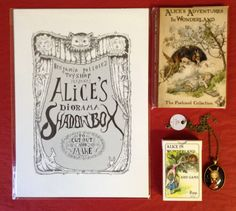 Wonderland with Alice - Pollock's Shadowbox Diorama, Alice in Wonderland Postcard Collection, Alice Pendant, Alice card Game