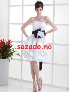 """JOLLY BRIDAL Short Tulle Ruffled Wedding Dress With Black Sash Not the dress you want? Click our store name """"Jolly Bridal"""" to view ALL our wedding dresses for Short Wedding Gowns, Wedding Dressses, Wedding Dress 2013, Cute Wedding Dress, Fall Wedding Dresses, Colored Wedding Dresses, Wedding Dress Styles, Bridal Dresses, Gown Wedding"""