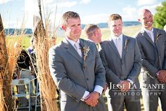 Jesse La Plante Photography   Wiens Ranch Wedding   Sedalia, CO   Groom waiting for bride at altar