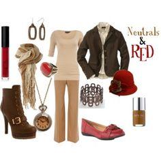 Neutrals & Red