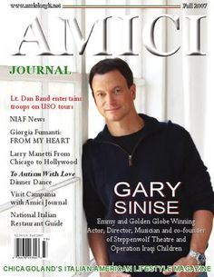 Gary Sinise Cover Story Amici Journal