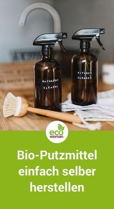 Reinigungsmittel ohne Chemie: Bio-Putzmittel einfach selber machen Spring cleaning with home-made cleaning products not only protects the environment, but also your wallet. This is how you make the ecological cleaners. Green Cleaning, Spring Cleaning, Limpieza Natural, Genius Ideas, Bathroom Cleaning Hacks, Cleaning Tips, Organic Cleaning Products, Homemade Products, Cleaning Agent