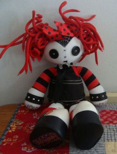 "JADED Jenny Hot Topic Plush Goth Doll 19"" Great for Halloween Unique 