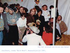 Jaarfeest, thema Wild West. Waarschijnlijk 1981.