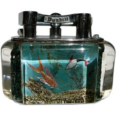 Alfred Dunhill, Aquarium Lighters.  Rare, hand painted table-lighters.