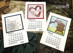 Stampin Up - Stamping Calendar - Flurry of Wishes - 2018 4x6 Calendari♥Cards2: Global Stamping Friends - Anything But a Card