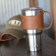 The Rocket City Yeti Personalized Leather Drink by HoltzLeather