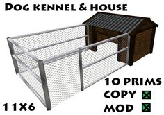 dog kennel house 11x6....great idea if he can't be inside for a while...way better than a chain