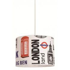 Suspension London   http://www.cotedeco.com/selection/la-deco-urbaine/suspension-cylindre-coton-imprime-london.html