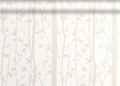 Still in with the brown tones, but nice feature. Calming, outdoorsy? Cottonwood White Leaf Wallpaper, Laura Ashley
