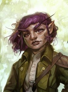 f Gnome Rogue Thief Leather Armor Cloak Sword portrait female deciduous forest hills farmland underdark Ortimai by Hannah Kennedy closeup med Fantasy Character Design, Character Concept, Character Inspiration, Character Art, Fantasy Portraits, Character Portraits, Fantasy Rpg, Medieval Fantasy, Iconic Characters