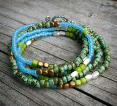 MultiPurpose Long Seed Bead Necklace or Bracelet by labellesavage, $38.99