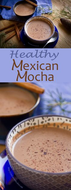 A lovely warm cup of Mexican Mocha, that's healthy, rich, and creamy!