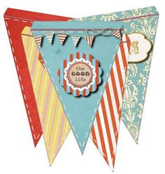 Free Cheery Pennant Banner Flag Printable- GO TO LINK IN RED DOWNLOAD WILL START - ONCE PDF COMES UP SAVE AS!
