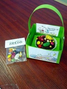 """Super """"sweet"""" craft made by my friend Genesis for the parable of sower. Let's be the good soil."""