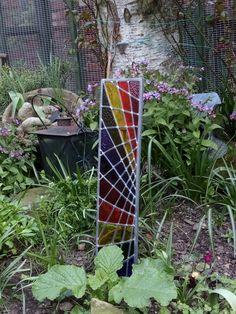 Spiroglass - Unique Stained Glass Garden Art #RainbowWarrior