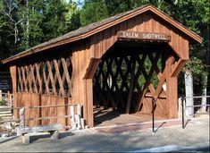 Salem-Shotwell Covered Bridge rebuilt over Rocky Brook, Opelika Alabama