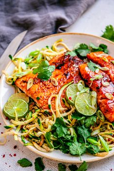 Zoodle Recipes, Veg Recipes, Seafood Recipes, Healthy Recipes, Dessert For Dinner, Dinner Menu, Food Calendar, Baked Greek Chicken, Wheat Free Recipes