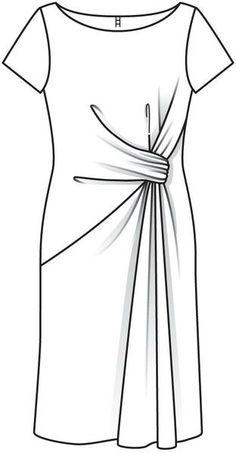 Robe de Soirée Drapée de Turlututu55 | Burda Addicts