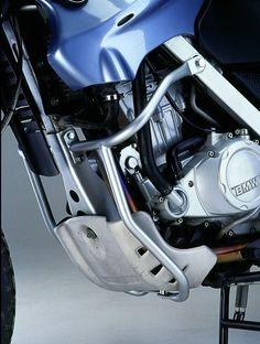 Enduro Schutzbügel in silber für BMW.