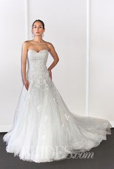 David Tutera For Mon Cheri Wedding Dresses Spring 2015 Bridal Runway Shows Brides.com | Wedding Dresses Style | Brides.com