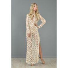 I LOVE Clothes. / Crocheted Paisleys 1960s Bohemian Maxi Dress |... via Polyvore