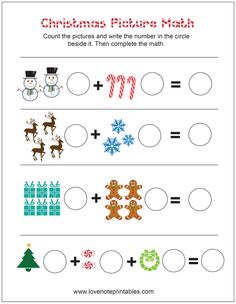 math worksheet : 1000 images about christmas worksheets on pinterest  christmas  : Free Math Christmas Worksheets