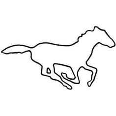 mustang embroidery designs | Mustang Outline embroidery design
