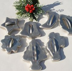 Vintage cookie cutters I had all of these in my younger married days but have lost a couple of them....still have the star, bell, tree, flower....use them every Christmas