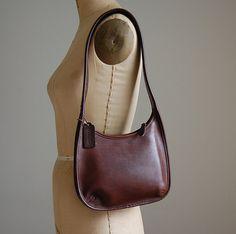 vintage Coach leather purse / small fudge by dressedinvintage, $53.00