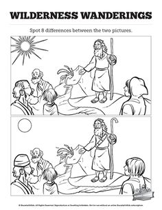 Exodus 2 Moses Escapes From Egypt Kids Spot the Difference