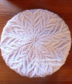 Вязаный спицами берет - работа Марины Ефимовой вязание и схемы вязания