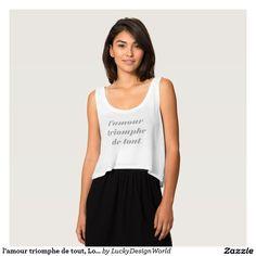 l'amour triomphe de tout, Love conquers all * Grey T-Shirt