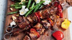 Foto: Matt Russell / ITV Gino D'acampo Recipes, Fish Recipes, Salad Recipes, Gino's Italian Escape, Italian Express, Lamb Skewers, Grilled Lamb, Goat Cheese Salad, Cooking