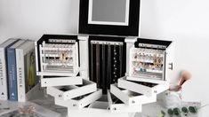 Jewellery Storage, Jewelry Organization, Jewellery Box, Box Storage, Storage Drawers, Jewelry Box With Lock, Cool Gadgets To Buy, Jewelry Cabinet, Large Drawers