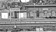 #Greifswald Bahnhof 1990 #sw #history