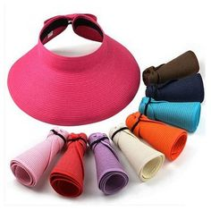 Visor Cap, Black And Navy, Pink Black, Navy Blue, Wearing A Hat, Sun Hats, Women's Hats, Brown Beige, Ladies Golf