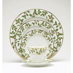 Noritake China & Dinnerware - Holly & Berry 5 Pc. Place SettingSave 30%-50% or more on Noritake China & Dinnerware