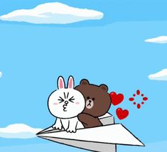 The perfect Lets Go Cony Animated GIF for your conversation. Cute Couple Cartoon, Cute Couple Art, Cute Love Cartoons, Love You Gif, Cute Love Gif, Cute Cat Gif, Chibi Cat, Cute Chibi, Mobile Stickers