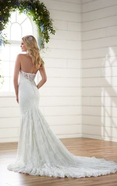 D2203 Sexy Embroidered Lace Wedding Dress by Essense of Australia