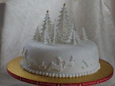A white christmas cake