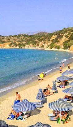 Beach in Agia Pelagia, Heraklion, Crete