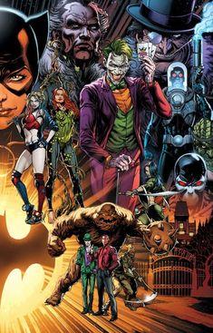 Detective Comics spread by Jason Fabok by BatmanMoumen on DeviantArt Marvel Dc Comics, Dc Comics Art, Marvel Heroes, Robin Comics, Gotham Villains, Comic Villains, Dc Comics Characters, Batman Kunst, Univers Dc