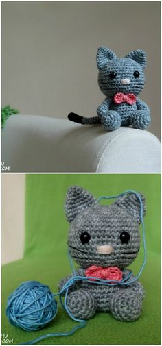 you are good at crocheting then here is a big list of free #crochet #cat #patterns for you!Bow the Kitten