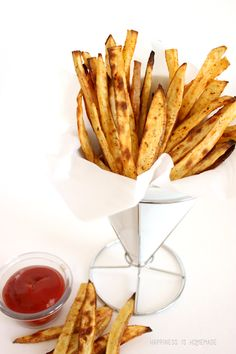 Spicy Sweet Potato French Fries #fries #recipe